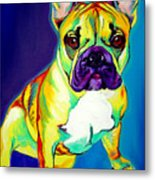 Frenchie - Tugboat Metal Print by Alicia VanNoy Call