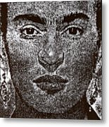 Frida Khalo Metal Print by Max Eberle