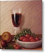 Fruit  And  Wine   A Metal Print by Helen Thomas