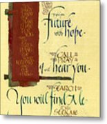 Future Hope I Metal Print by Judy Dodds