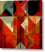 Geomix-04 - 39c3at22g Metal Print by Variance Collections