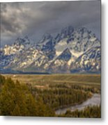 Grand Tetons Snake River Metal Print by Charles Warren
