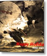Happy Holidays . Winter Migration Metal Print by Wingsdomain Art and Photography