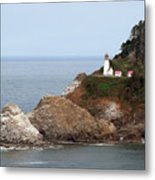 Heceta Head Lighthouse - Oregon's Scenic Pacific Coast Viewpoint Metal Print by Christine Till