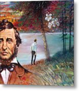 Henry David Thoreau Metal Print by John Lautermilch