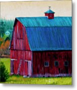 Henry Strong Barn Circa 1928 Metal Print by Stacey Neumiller