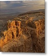 Herods Three-tiered Palace Cascades Metal Print by Michael Melford