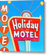 Holiday Motel Las Vegas Metal Print by Wingsdomain Art and Photography
