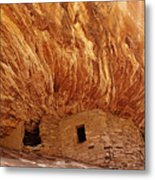 House On Fire Ruins Metal Print by Melany Sarafis