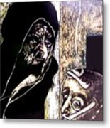 Ibhabitants Of The Precipice Metal Print by Chester Elmore
