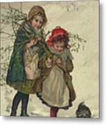 Illustration From Christmas Tree Fairy Metal Print by Lizzie Mack