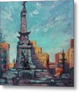 Indy Circle- Day Metal Print by Donna Shortt