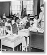 Integrated Classroom In Washington Metal Print by Everett