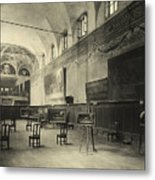 Interior Of The Dining Hall Of The Church Of Santa Maria Delle Grazie Milan Metal Print by Alinari