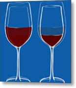 Is The Glass Half Empty Or Half Full Metal Print by Frank Tschakert