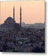 Istanbul Cityscape At Sunset Metal Print by Terje Langeland