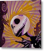 Jack Skellington Metal Print by Tai Taeoalii