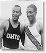 Jesse Owens 1913-1980 With Ralph Metal Print by Everett