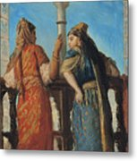 Jewish Women At The Balcony In Algiers Metal Print by Theodore Chasseriau