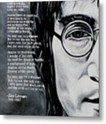 John Lennon - Imagine Metal Print by Eddie Lim