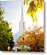 Jordan River Temple Rose Metal Print by La Rae  Roberts