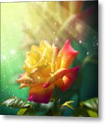 Juicy Rose Metal Print by Svetlana Sewell