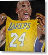 Lakers 24 Metal Print by Daryl Williams Jr