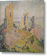 Landscape With A Ruined Castle  Metal Print by Paul Signac
