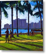 Late Afternoon - Queen's Surf Metal Print by Douglas Simonson
