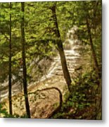 Laughing Whitefish Falls 2 Metal Print by Michael Peychich