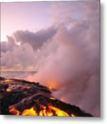 Lava Flows At Sunrise Metal Print by Peter French - Printscapes
