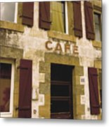 Le Vieux Cafe    The Old Cafe Bar Metal Print by Mark Hendrickson