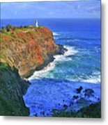 Lighthouse On The Hill Metal Print by Scott Mahon