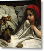 Little Red Riding Hood Metal Print by Gustave Dore