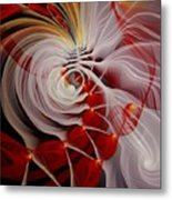 Love Is Like A Fire Metal Print by Gayle Odsather