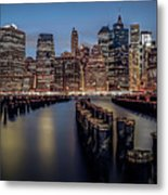 Lower Manhattan Skyline Metal Print by Eduard Moldoveanu