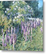 Lupine On Parade Metal Print by L Diane Johnson