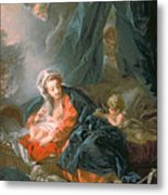 Madonna And Child Metal Print by Francois Boucher