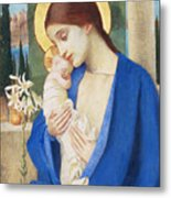 Madonna And Child Metal Print by Marianne Stokes