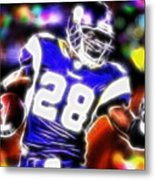 Magical Adrian Peterson   Metal Print by Paul Van Scott