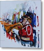 Marching In The Independence Day Parade Metal Print by Peg Ott Mcguckin