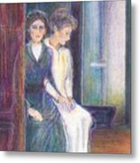 Martha And Mary Metal Print by Laurie Parker