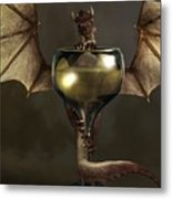 Mead Dragon Metal Print by Daniel Eskridge