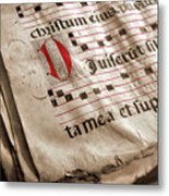 Medieval Choir Book Metal Print by Carlos Caetano