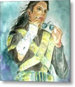Michael Jackson - Dangerous Tour  Metal Print by Nicole Wang