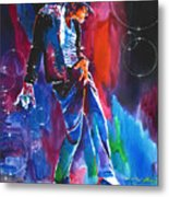Michael Jackson Action Metal Print by David Lloyd Glover