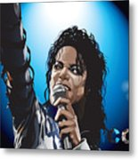Michael Jackson Icon Metal Print by Mike  Haslam