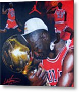 Michael Jordan Metal Print by Luke Morrison