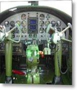 Mitchell B-25 Bomber Cockpit Metal Print by Don Struke