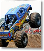 Monster Trucks - Big Things Go Boom Metal Print by Christine Till